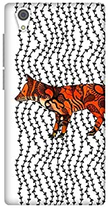 The Racoon Lean Imprint hard plastic printed back case / cover for Vivo Y51