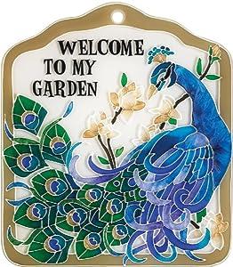 Joan Baker Designs TP1008 6W by 7H Peacock Garden Tile Plaque