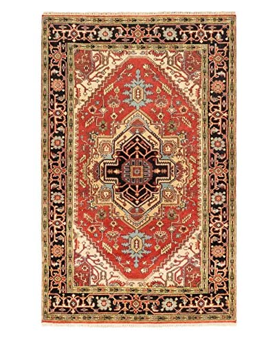 Hand-Knotted Serapi Heritage Wool Rug, Dark Copper, 5′ 2″ x 8′ 1″