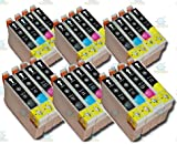 24 Chipped Epson T0711-4 (T0715) Cheetah Compatible Ink Cartridges for Epson Stylus SX215 Printer