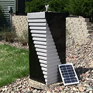 Designer Tower Solar on Demand Fountain
