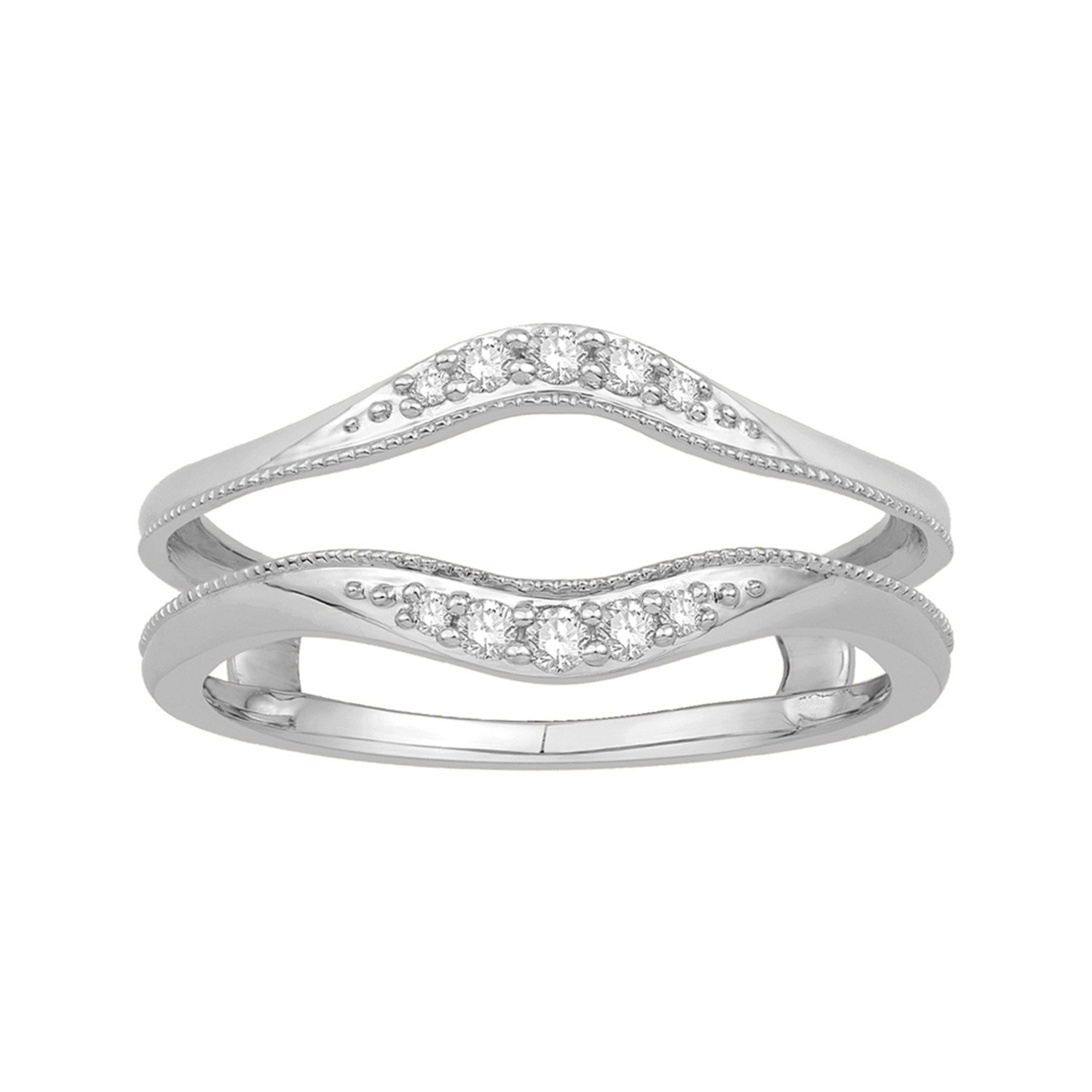 1/8 ct. tw. Diamond Ring Guard in 10K White Gold the white guard