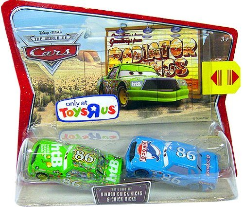 Buy Low Price Mattel Disney / Pixar CARS Dinoco Chick Hicks and Chick Hicks TRU Exclusive Movie Doubles 1:55 Die Cast Figure 2-Pack (B001BPY5KE)