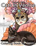 Cats in Venice: Coloring book for adults