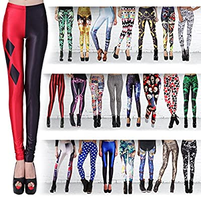 SEXY Womens Girls Fashion Colorful Seamless Knitted Printed Leggings