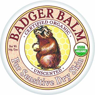 Badger - Unscented Balm - For Sensitive Dry Skin - 2 oz.