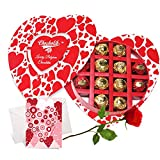 Best Quality Chocolates With Rose And Love Card - Chocholik Belgium Chocolates