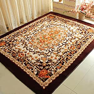 Memorecool european rustic style design area for Living room rugs amazon