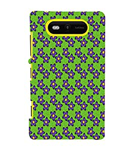 EPICCASE purple flowers Mobile Back Case Cover For Nokia Lumia 820 (Designer Case)