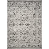 Safavieh Vintage Collection VTG430A Grey and Ivory Area Rug, 5-Feet 1 inch by 7-Feet 7-Inch