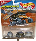 """JPL SOJOURNER MARS ROVER Hot Wheels Action Pack with """"The Real Rover is Schuduled to Land On Mars July 4, 1997!"""" Limited Edition 1:64 Scale Die Cast Play Set"""
