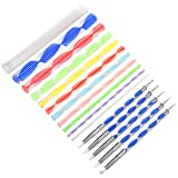 Meuxan 16 Piece Dotting Tools for Rock Painting, Polymer Clay & Pottery Craft, Canvas Paper Flower Embossing Art