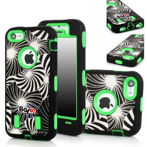Bayke Brand 3in1 Armorbox Armor Defender Bumper Case for Apple Iphone 5C (5 & 5S Not Fit) Fashion Dream Catcher Design High Impact Dual Layer Hybrid Full-body Protective Case (Green / Screen Protector not Include) at Amazon.com