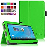"Fintie Chromo 7"" Tablet Folio Case Cover - Premium Leather With Stylus Holder for Chromo Inc 7 Inch Android Tablet - Green"