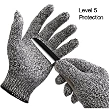 buy Inf-Way Cut Resistant Gloves--Dyneema Level 5 Protection Food Grade Kitchen Meat Saw Safety Working Gloves (Small)