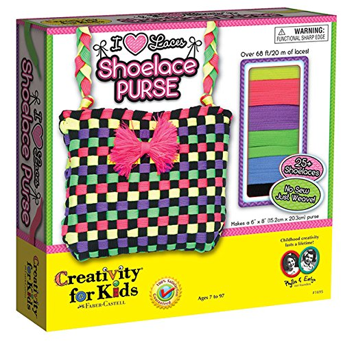 Creativity for Kids  I Love Laces Shoelace Purse