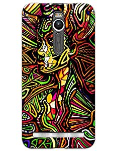Abstract Girl Side Face case for Asus Zenfone 2
