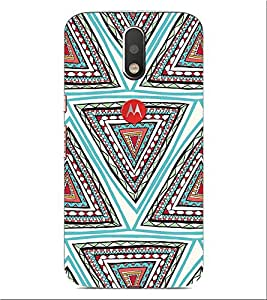 ifasho Animated Pattern colrful tribal design Back Case Cover for Motorola Moto G4 Plus
