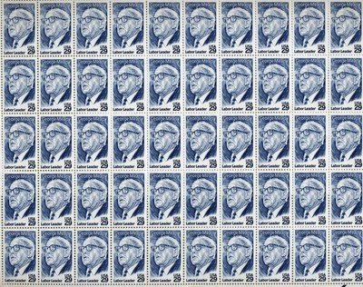 George Meany Labor Leader Sheet of 50 x 29 Cent US postage stamp #2848