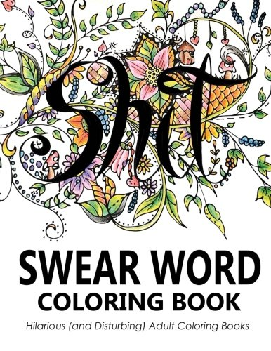 USED GD Swear Word Coloring Book Hilarious And Disturbing Adult Bo