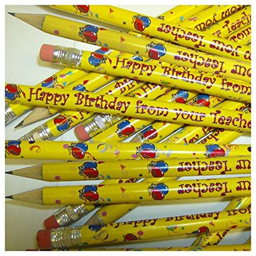 primary-teaching-services-ltd-gp9-pack-of-12-happy-birthday-metallic-finish-pencils