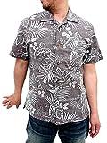 (ルーシャット)ROUSHATTE アロハシャツ 大きいサイズ 綿裏使い 20color 3L ブラウン