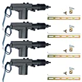 E Support Black Car Plastic Universal Heavy Duty Power Door Lock Actuator 2 Wire 12V Pack of 4 (Color: 4Pcs)
