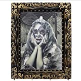 Anluddyハロウィン飾り女の子恐怖3D写真立て額縁音声制御発光ハロウィン不思議マジックミラー魔法お化け屋敷絵画飾りインテリアおもちゃ変色少女魔法フォトフレーム