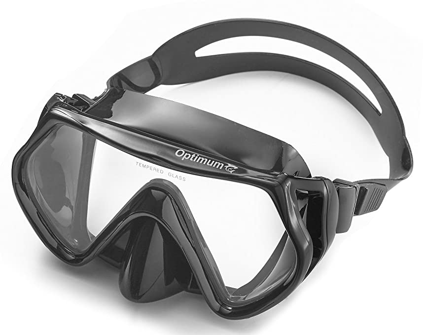 Diving Mask, Scuba Diving, Free Diving, Snorkeling Mask, Adults, Black