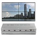 ISEEVY 4K Video Wall Controller 2x2 1x2 2x1 1x3 3x1 1x4 4x1 Video Wall Processor Support 3840x2160@30 HDMI inputs for 4 TV Splicing (Tamaño: 4K30)
