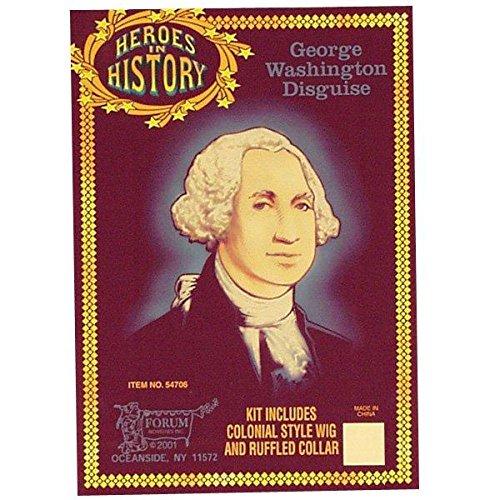 Forum Novelties Inc Mens Heroes In History - George Washington Accessory Kit Black One Size