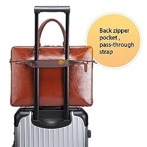034c561d30f2 BOSTANTEN Leather Briefcase Shoulder 15.6