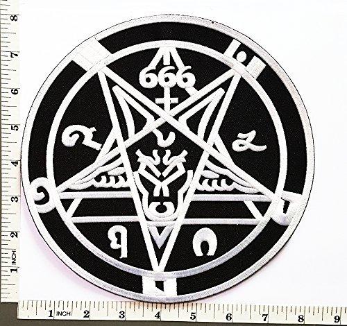 Big Jumbo Large Big Huge Jumbo 666 Demonic Pagan Goat Pentagram Music Band Heavy Metal Punk Rock patch Jacket T-shirt Sew Iron on Patch Badge Embroidery by DreamHigh_skyland big jumbo patch