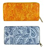 FAE Women's Wallet multi colour set of 2 by JDK NOVELTY - (Set2BGW3857OrangeGrey)