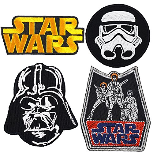 Set of 4 - Star Wars Iron on Embroidered Patches Super Saving Pack (Iron Stars compare prices)