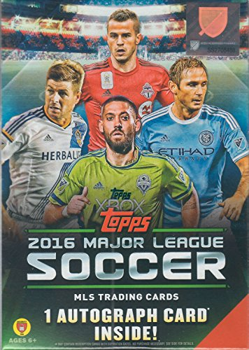 2016-Topps-MLS-Soccer-Unopened-Factory-Sealed-Blaster-Box-of-Packs-with-One-GUARANTEED-Autographed-Card-in-Every-Box