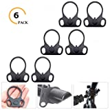 Ar15 End Plate,Ar15 Slinggs Adapter Mount,Ar15 Accessories Hand Mount Tools (6 Pack) (Color: 6 PACK)