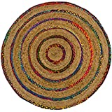 nadeco strohteppich schlicht 120cm rund maisstrohteppich natur stroh teppich. Black Bedroom Furniture Sets. Home Design Ideas