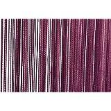 Fadenvorhang Türvorhang 90x250 cm oder 140x250 cm Fadengardine verschiedene uni Farben (90x250 lila)