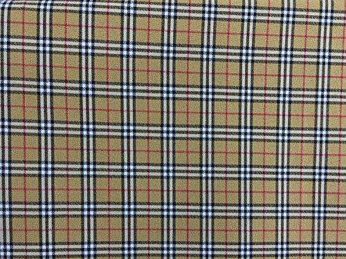 Prestige Stoffe Viskose Tartan Check Kleid macht Tartans Schottischer Kilt Stoff Supplies Patchwork Mantel, Kleid Stoff - Pro Meter Beige/Red/White