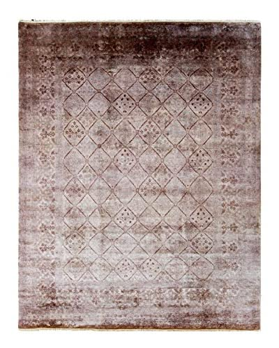 nuLOOM One-of-a-Kind Hand-Knotted Vintage Overdyed Area Rug, Walnut, 7' 11 x 10' 1