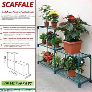 Betty garden scaffale new per piante e fiori in acciaio - Porta piante da esterno ...