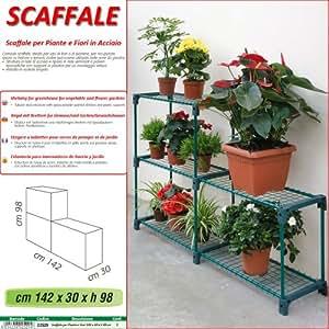 betty garden scaffale new per piante e fiori in acciaio