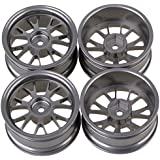 Bqlzr 52mm Titanium Aluminum Alloy Wheel Rims Y Shape Fit For Rc1:10 On Road Racing Car Pack Of 4