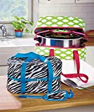 """Slow Cooker Carrying Case Green Fits Slow Cooker and Lid up to 6 Quarts 15"""" X 11"""" X 7-1/2"""""""