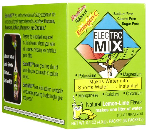 Emergen-C Electro Mix - Lemon-Lime, 30 [0.1 Oz (4 G)] Packets (8 Pack)