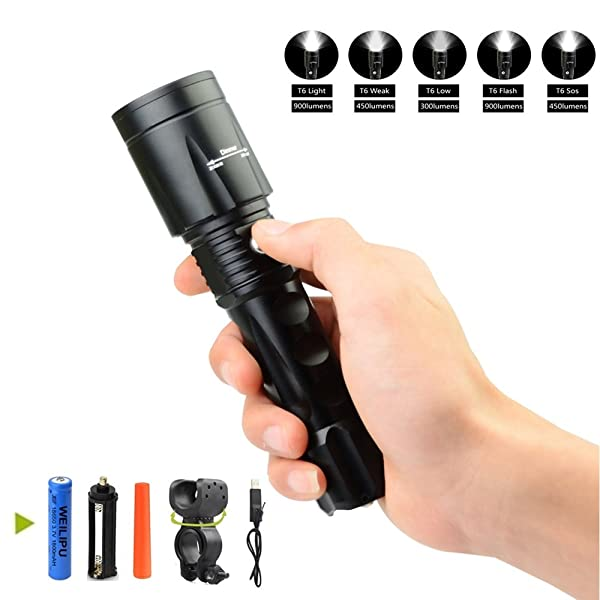 2 in 1 UV Morpilot LED Torch 395nm 500 Lumens Adjustable Focus White Light Black