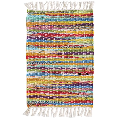Extra Weave USA Handwoven Cotton Vintage Rug, 2' X 3'