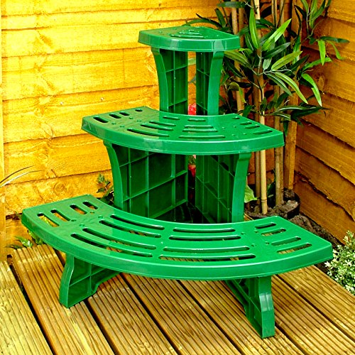 Nice Green Plant Stands Indoor : Great Ideas 3-tier Corner Etagere Potted Plant Display Stand - Quarter ...