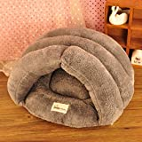 T2C Slippers Shape Soft Washable Indoor Pet Dog House Bed Gray L